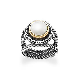 Marjan Ring with Cultured Pearl
