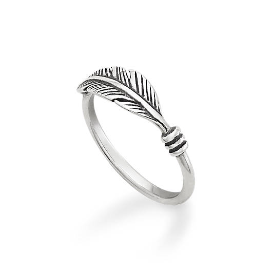 View Larger Image of Delicate Feather Ring