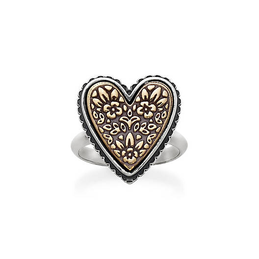 Heirloom Floral Heart Ring