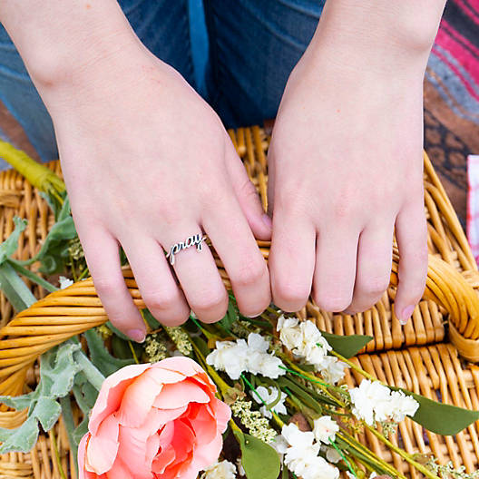"""View Larger Image of """"Pray"""" Ring"""