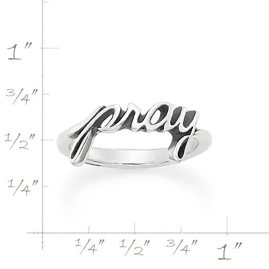 "View Larger Image of ""Pray"" Ring"