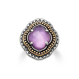 Heirloom Quatrefoil Purple Triplet Ring