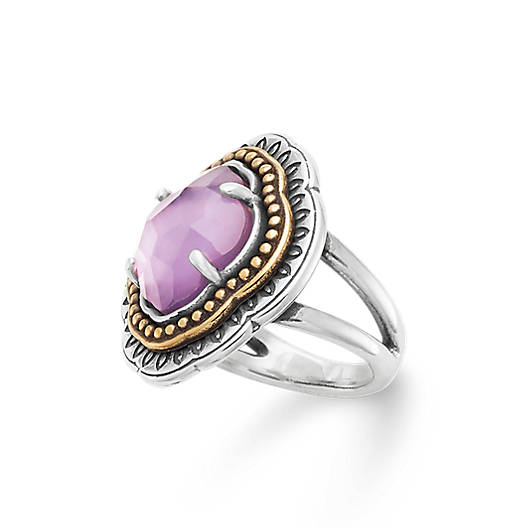 View Larger Image of Heirloom Quatrefoil Purple Triplet Ring