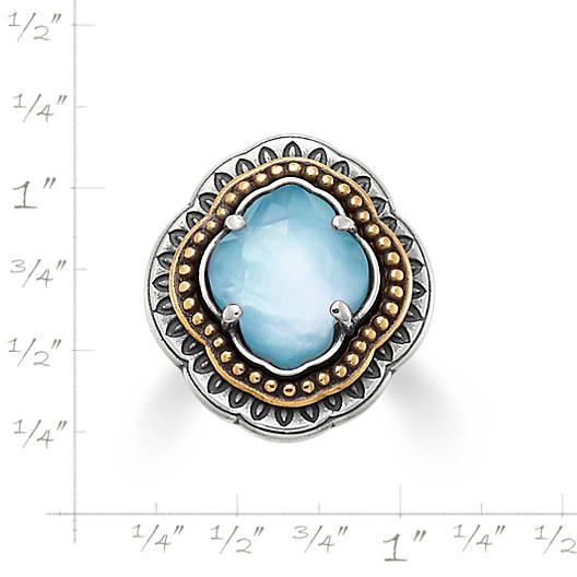 View Larger Image of Heirloom Quatrefoil Blue Triplet Ring