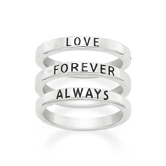 """Love Forever Always"" Ring Set"