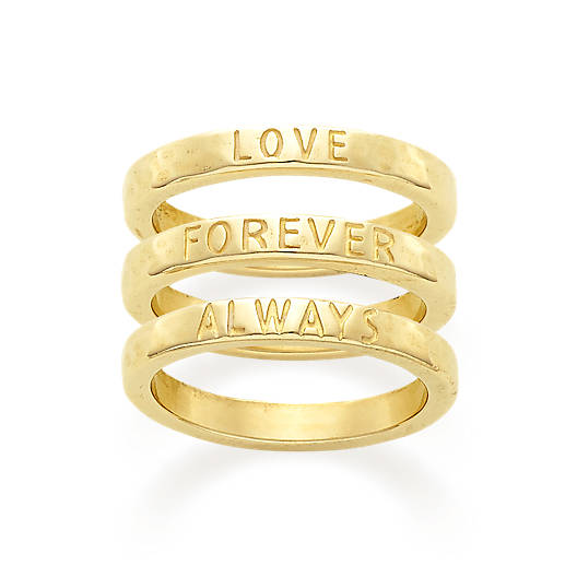"View Larger Image of ""Love Forever Always"" Ring Set"