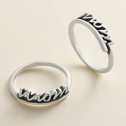 "View Larger Image of ""Mom"" Script Ring"