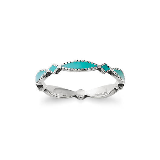 View Larger Image of Enamel Teal Cordoba Stacker Ring