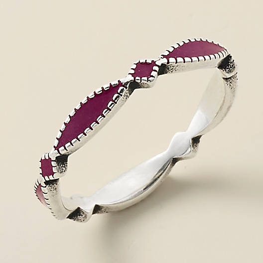 View Larger Image of Enamel Purple Cordoba Stacker Ring
