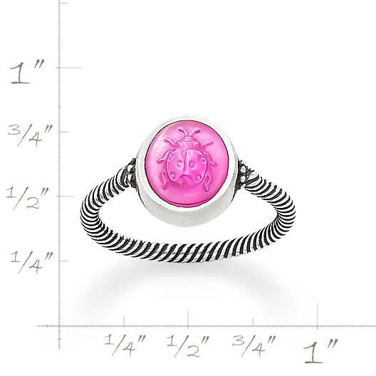 View Larger Image of Sculpted Ladybug Pink Triplet Ring