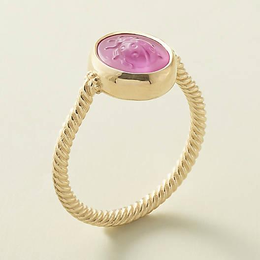 View Larger Image of Sculpted Ladybug Pink Triplet Ring