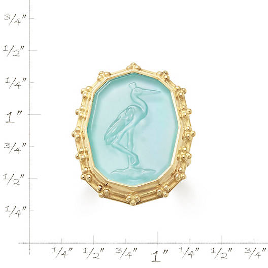 View Larger Image of Sculpted Crane Teal Triplet Ring