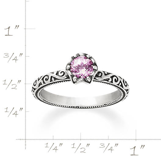 View Larger Image of Cherished Birthstone Ring with Lab-Created Pink Sapphire