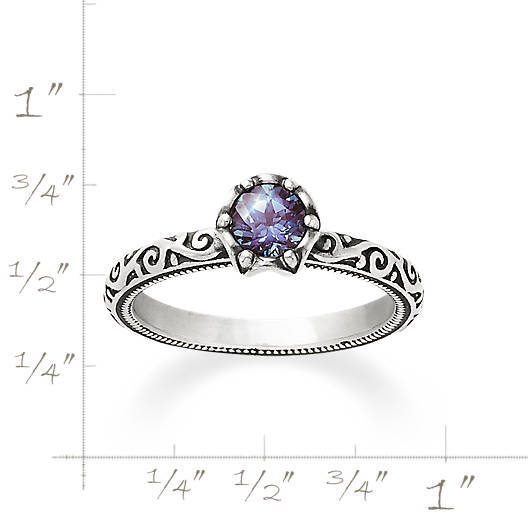 View Larger Image of Cherished Birthstone Ring with Lab-Created Alexandrite