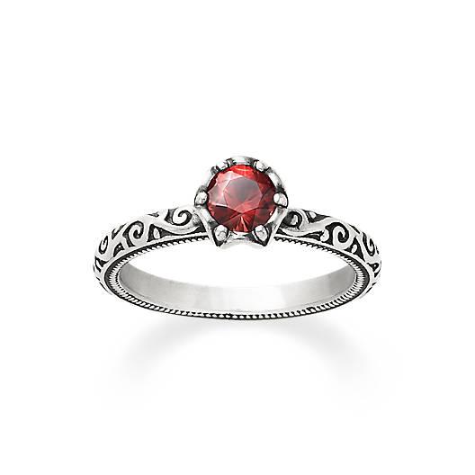 Cherished Birthstone Ring with Garnet