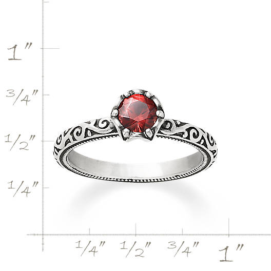 View Larger Image of Cherished Birthstone Ring with Garnet