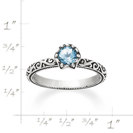 View Larger Image of Cherished Birthstone Ring with Lab-Created Aqua Spinel