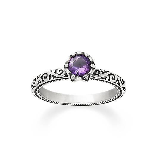 Cherished Birthstone Ring with Amethyst