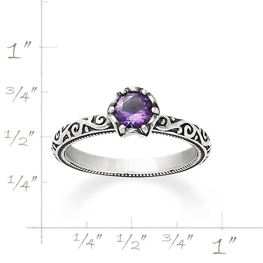 View Larger Image of Cherished Birthstone Ring with Amethyst