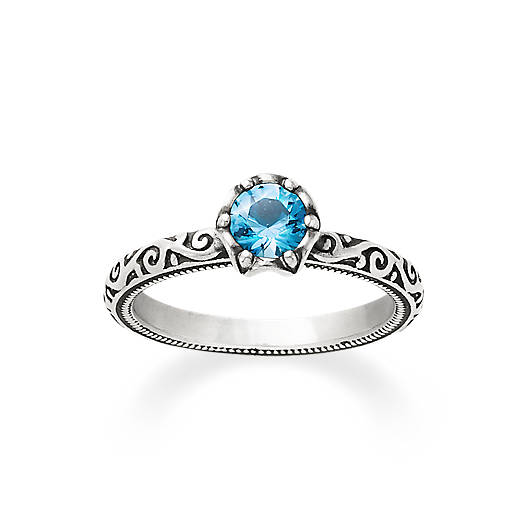View Larger Image of Cherished Birthstone Ring with Blue Topaz