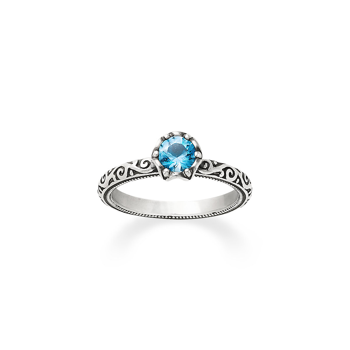 Birthstone   Ring December   Birthstone Sterling Silver ---- Made To Fit ------ Size 5 To 15  Wire Wrapped Blue Topaz  Ring
