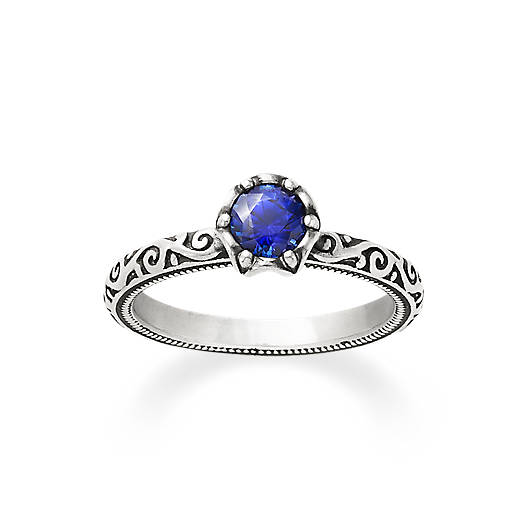 View Larger Image of Cherished Birthstone Ring with Lab-Created Blue Sapphire