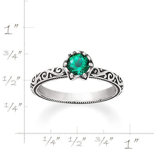 View Larger Image of Cherished Birthstone Ring with Lab-Created Emerald