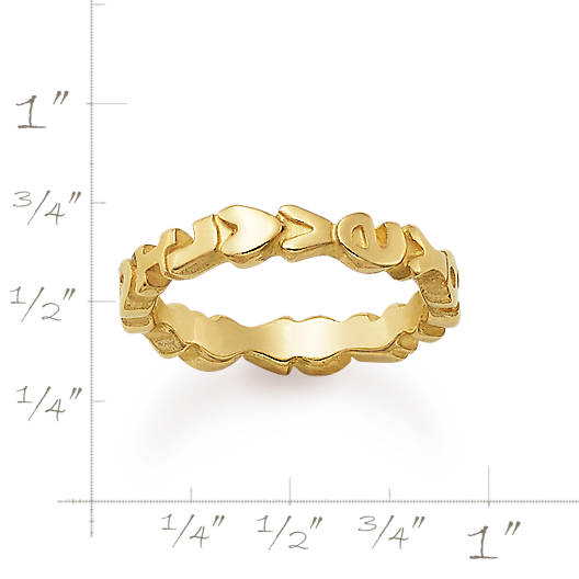"View Larger Image of ""I Love You"" Ring"