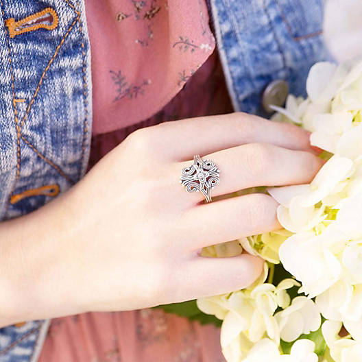 View Larger Image of Tracery Cross Ring