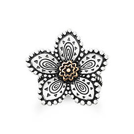 Beaded Festive Flower Ring