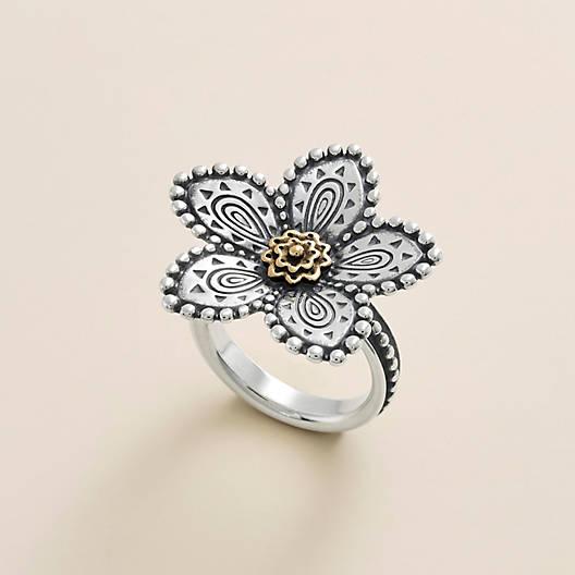 View Larger Image of Beaded Festive Flower Ring