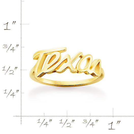 "View Larger Image of ""Texas"" Script Ring"