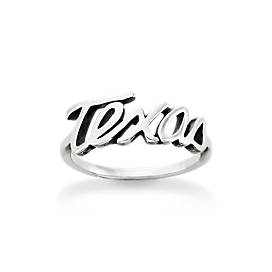 """Texas"" Script Ring"