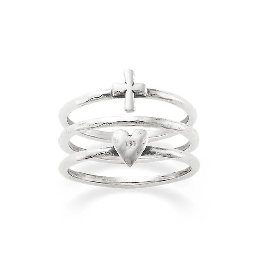 Faith and Love Ring Set