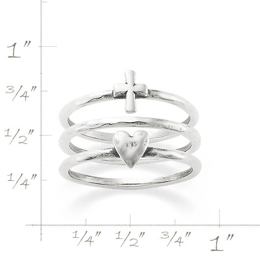 View Larger Image of Faith and Love Ring Set