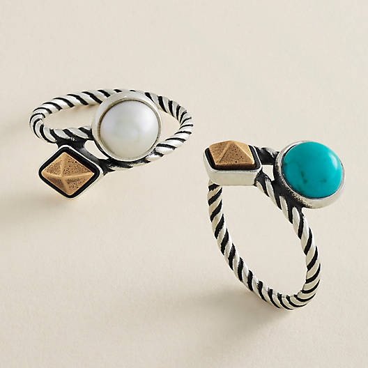View Larger Image of Marlowe Ring with Turquoise