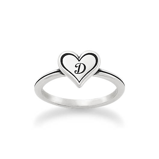 View Larger Image of Delicate Heart Initial Ring