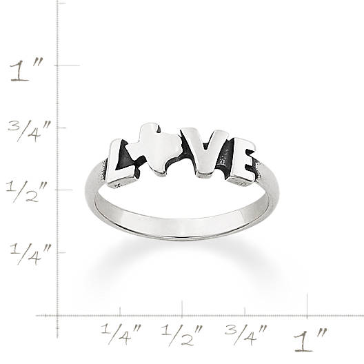 View Larger Image of Texas Love Ring