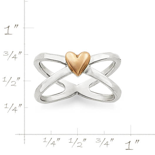View Larger Image of Cross Your Heart Ring