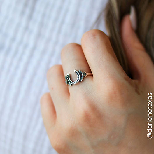 View Larger Image of Floral Horseshoe Ring