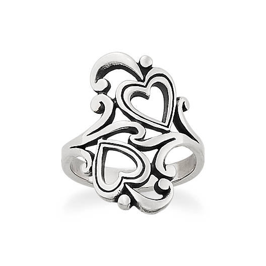 View Larger Image of Swirls and Scrolls Hearts Ring