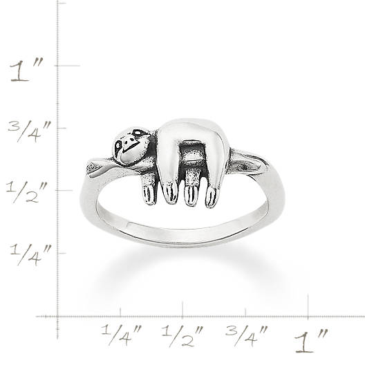 View Larger Image of Happy Sloth Ring