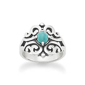 Spanish Lace Ring with Turquoise