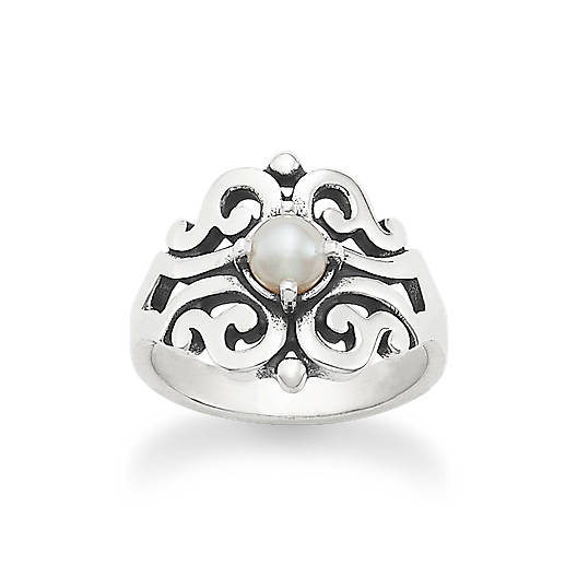 View Larger Image of Spanish Lace Ring with Cultured Pearl