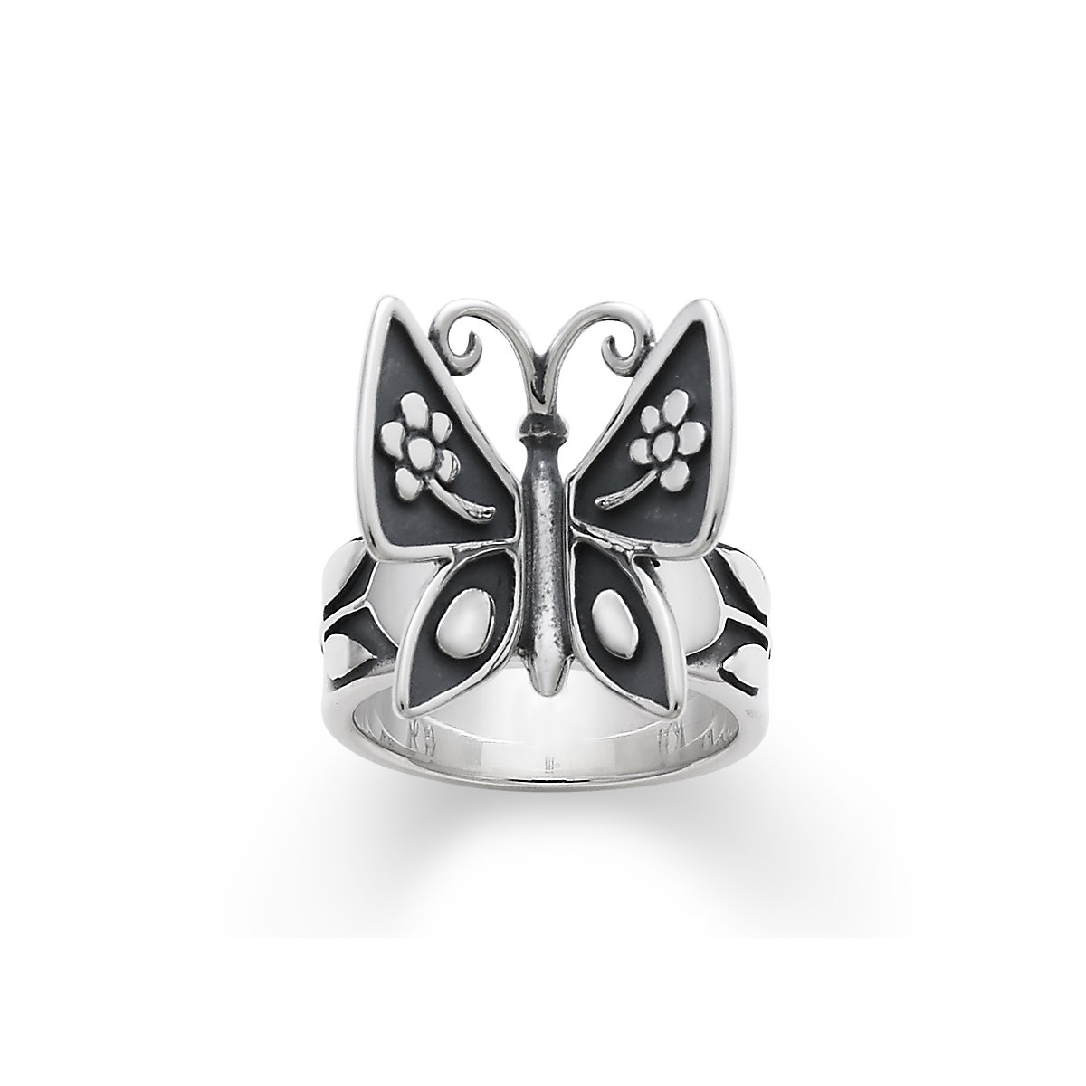 round rings cut white jewelry silver lajerrio sapphire black butterfly