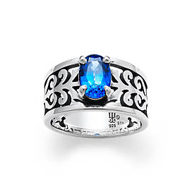 Adoree Ring with Lab-Created Blue Sapphire