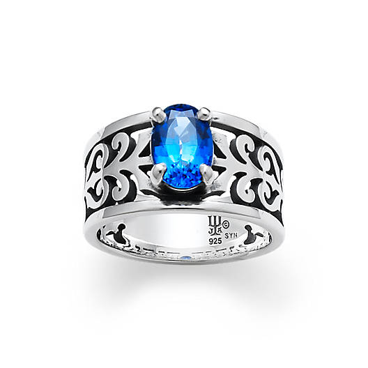 View Larger Image of Adoree Ring with Lab-Created Blue Sapphire