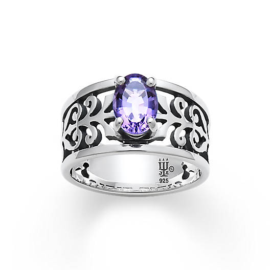 View Larger Image of Adoree Ring with Amethyst
