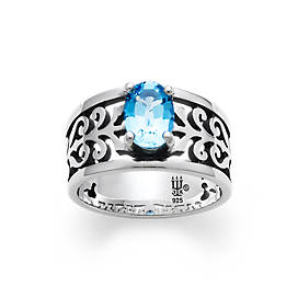 Adoree Ring with Blue Topaz