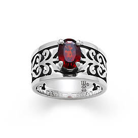 Adoree Ring with Garnet